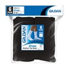 GILDAN USA INC GLE751-6MB 6PK BLK Crew Socks