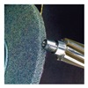 "3M 48011037158 Scotch-Brite; Cut & Polished Unitized Deburring & Finishing Wheel  (CP-UW) Aluminum oxide - Diameter: 2""   Width: 1/4""   CENTER HOLE: 1/4""   Grade: ME"