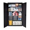 Sandusky EA4R462472-02 Heavy Duty Stationary Storage Cabinets - Model #: EA4R-462472-02   Color: Charcoal