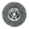 "Weiler 1035 Narrow Face Width Wire Wheel Brushe - Diameter: 6""   WIRE SIZE: .006"""