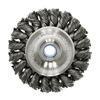 """Weiler 8044 Knot Style Wire Wheel - Diameter: 4""""   WIRE SIZE: .014"""""""