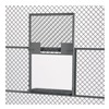 "Husky 6621  Partition System Slide-Up Window-Shelf Service Windows for Partition Systems - 24""Wx20.5""H - Gray"
