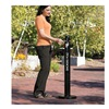 "Rubbermaid FGR1BK Aluminum Smokers' Pole - 41""H - 0.9-Gallon Capacity - Black"