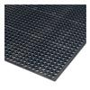 "Wearwell 474.12X3X3BK Drainage Mat - 36x36"" - Beveled on 3 Sides"