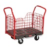 "Rubbermaid RCP 4488 BLA Platform Trucks with Wire Side Panel - 68-1/8""Lx30-1/4""W Deck - Thermoplastic Rubber Casters"