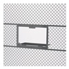 "Husky 6620 Window-Shelf Service Windows for Partition Systems - 24""Wx15""H - Gray"