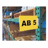 Aigner Label Holder 1108-Y Labels for Warehouse Aisle Pallet Rack Sign Kit - Yellow