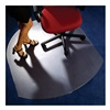 "Cleartex FLR1113423LR ClearTex Chair Mat - 53x48"" - Single Lip"