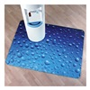 "Colortex FLR229220ECDR ColorTex Printed Polycarbonate Chair Mat - 48x36"" - Water Drops"