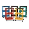 """Duraweld AVJ42-RD Duraweld Adjustable-Height Cart - 24x18"""" Shelves - Four 4"""" Swivel Casters (two with locking brake) - Red"""