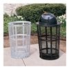 Relius Solutions EXP-52-R-BLACK Expanded Metal Container - 48-Gallon Capacity - Black