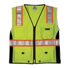 Ml Kishigo 1513-M Safety Vest, Black Panels, Lime, M