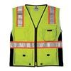 Ml Kishigo 1513-XL Safety Vest, Black Panels, Lime, XL