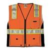 Ml Kishigo 1514-3X Safety Vest, Black Panels, Orange, 3X