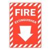 Lyle U1-1010-RD_10X14 Fire Extinguisher Sign, 14x10 In.