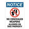 Lyle U1-1012-RD_5X7 Notice Sign, 7x5 In., English