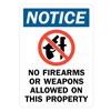 Lyle U1-1015-RA_10X14 Notice Sign, 14x10 In., English