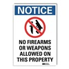 Lyle U1-1015-RD_7X10 Notice Sign, 10x7 In., English