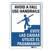 Lyle U1-1026-RD_5X7 Safety Reminder Sign, 7x5 In., Bilingual