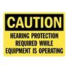 Lyle U1-1029-RA_14X10 Caution Sign, 14x10 In., English