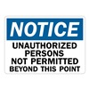Lyle U1-1034-RA_14X10 Notice Sign, 14x10 In., English