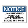 Lyle U1-1034-RD_14X10 Notice Sign, 14x10 In., English