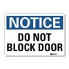 Lyle U1-1039-RD_14X10 Notice Sign, 14x10 In., English