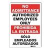 Lyle U1-1041-RD_5X7 Safety Sign, 7x5 In., Bilingual