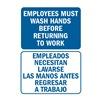 Lyle U1-1046-RD_5X7 Hygiene Sign, 7x5 In., Bilingual