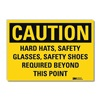 Lyle U1-1054-RD_10X7 Caution Sign, 10x7 In., English