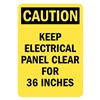 Lyle U1-1059-RD_7X10 Caution Sign, 10x7 In., English