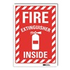 Lyle U1-1060-RD_10X14 Fire Extinguisher Sign, 14x10 In.