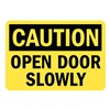 Lyle U1-1067-RD_10X7 Caution Sign, 10x7 In., English
