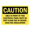 Lyle U1-1073-RD_10X7 Caution Sign, 10x7 In., English
