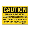 Lyle U1-1073-RD_14X10 Caution Sign, 14x10 In., English