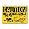 Lyle U1-1090-RD_10X7 Caution Sign, 10x7 In., English