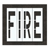 Rae STL-116-79601 Pavement Stencil, Fire, 96 in