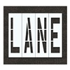 Rae STL-116-79602 Pavement Stencil, Lane, 96 in