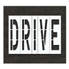 Rae STL-116-79607 Pavement Stencil, Drive, 96 in