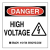 Brady 131706 Danger Sign, 3in.Hx3in.W, Sticking Poly