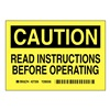 Brady 27356 Caution Sign, 10in. H x 14in. W, Vinyl