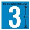 Stranco Inc DWR-1.5-3-5 Die-Cut Reflective Number Label, 3, PK5