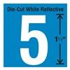 Stranco Inc DWR-1.5-5-5 Die-Cut Reflective Number Label, 5, PK5