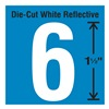 Stranco Inc DWR-1.5-6-5 Die-Cut Reflective Number Label, 6, PK5