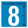 Stranco Inc DWR-1.5-8-5 Die-Cut Reflective Number Label, 8, PK5