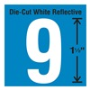 Stranco Inc DWR-1.5-9-5 Die-Cut Reflective Number Label, 9, PK5