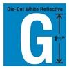 Stranco Inc DWR-1.5-G-5 Die-Cut Reflective Letter Label, G, PK5