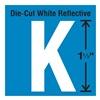 Stranco Inc DWR-1.5-K-5 Die-Cut Reflective Letter Label, K, PK5