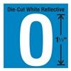 Stranco Inc DWR-1.5-O-5 Die-Cut Reflective Letter Label, O, PK5