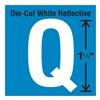 Stranco Inc DWR-1.5-Q-5 Die-Cut Reflective Letter Label, Q, PK5